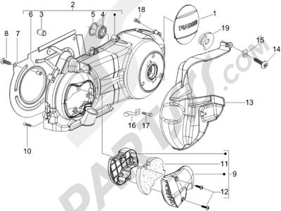 Piaggio BEVERLY 250 CRUISER E3 ie 2007-2009 Tapa cárter - Refrigeracion cárter