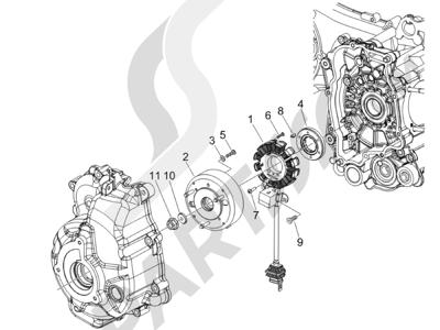 Piaggio BEVERLY 250 CRUISER E3 ie 2007-2009 Volante magnetico