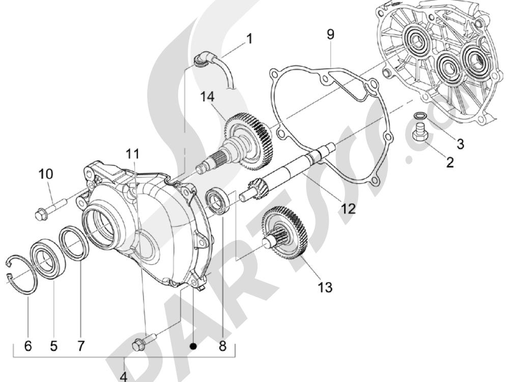 Grupo reductor Piaggio BEVERLY 250 CRUISER E3 ie 2007-2009