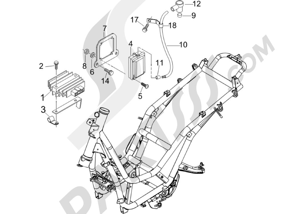 Reguladores de tensión - Centralitas electrónicas - Bobina A.T. Piaggio BEVERLY 250 CRUISER E3 ie 2007-2009