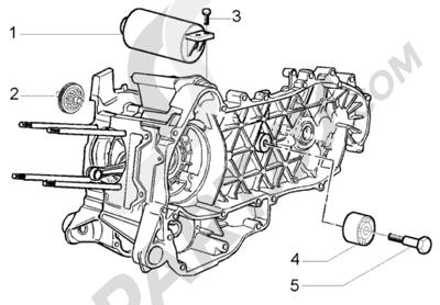 Piaggio Beverly 250 RST 1998-2005 Arranque electrico - polea amortiguador