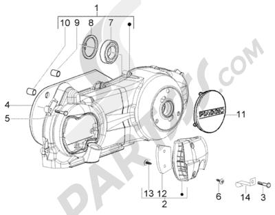 Piaggio Beverly 250 RST 1998-2005 Refrigeracion carter