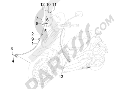 Piaggio Beverly 250 Tourer 2007-2009 Transmisiónes