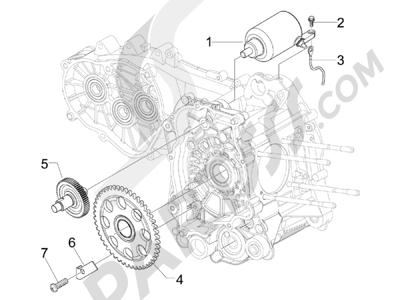 Piaggio BEVERLY 300 RST/S 4T 4V IE E3 2010-2015 Arranque - Arranque electrico