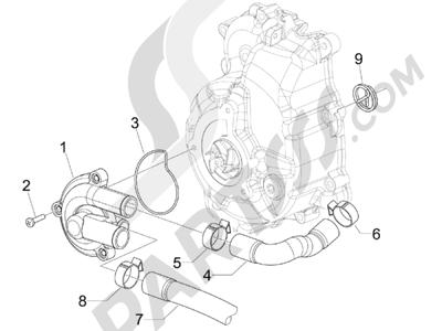 Piaggio BEVERLY 300 RST/S 4T 4V IE E3 2010-2015 Bomba de agua