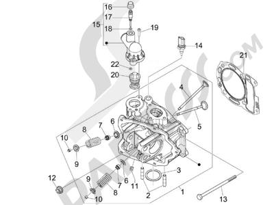 Piaggio BEVERLY 300 RST/S 4T 4V IE E3 2010-2015 Grupo culata - Valvula