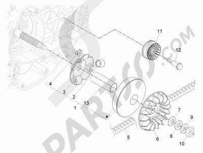 Piaggio BEVERLY 300 RST/S 4T 4V IE E3 2010-2015 Polea conductora