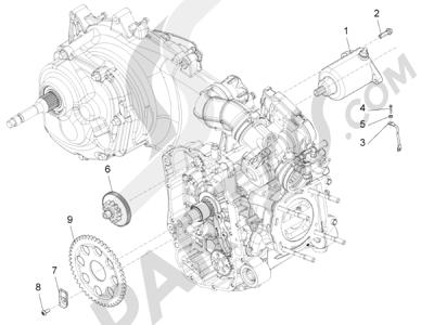 Piaggio Beverly 350 4T 4V ie E3 Sport Touring 2013-2014 Arranque - Arranque electrico