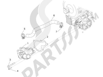 Piaggio Beverly 350 4T 4V ie E3 Sport Touring 2013-2014 Bomba de agua