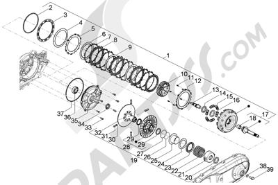 Piaggio Beverly 350 4T 4V ie E3 Sport Touring 2013-2014 Polea conducida