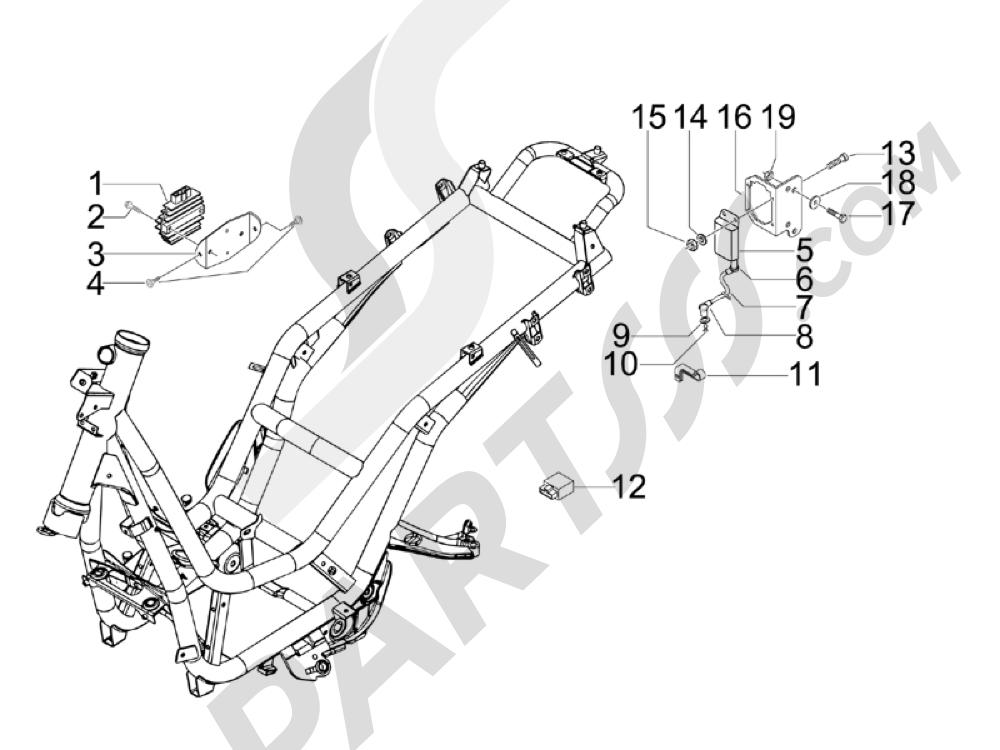 Piaggio Beverly 400 ie Tourer E3 2008-2009 Reguladores de tensión - Centralitas electrónicas - Bobina A.T.