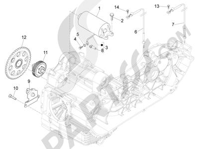 Piaggio Beverly 500 Cruiser E3 2007-2012 Arranque - Arranque electrico