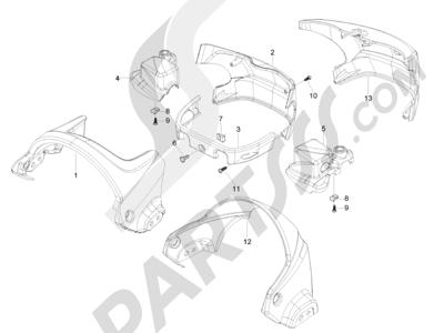 Piaggio Beverly 500 Cruiser E3 2007-2012 Coberturas manillar
