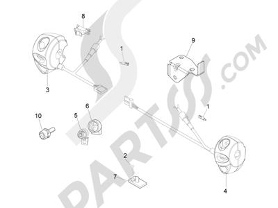 Piaggio Beverly 500 Cruiser E3 2007-2012 Conmutadores - Conmutadores - Pulsadores - Interruptores