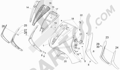 Piaggio Beverly 500 Cruiser E3 2007-2012 Escudo delantero