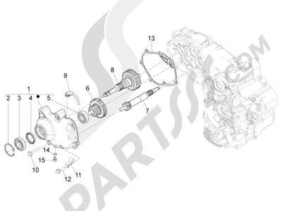 Piaggio Beverly 500 Cruiser E3 2007-2012 Grupo reductor