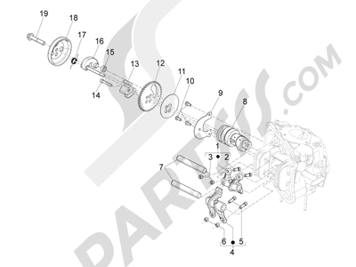 Piaggio Beverly 500 Cruiser E3 2007-2012 Grupo soporte balancines
