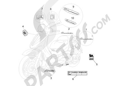 Piaggio Beverly 500 Cruiser E3 2007-2012 Letreros - Escudos