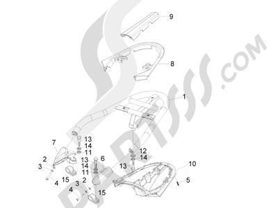 Piaggio Beverly 500 Cruiser E3 2007-2012 Portaequipajes trasero