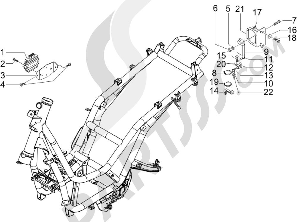 Piaggio Beverly 500 Cruiser E3 2007-2012 Reguladores de tensión - Centralitas electrónicas - Bobina A.T.