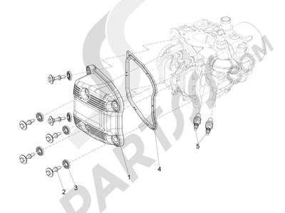 Piaggio Beverly 500 Cruiser E3 2007-2012 Tapa culata