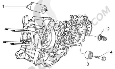Piaggio BV 200 (U.S.A.) 1998-2005 Arranque electrico-polea amortiguador