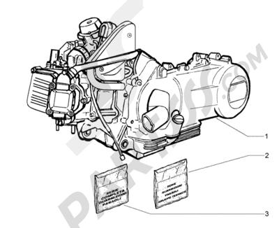 Piaggio BV 200 (U.S.A.) 1998-2005 Motor