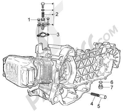 Piaggio BV 200 (U.S.A.) 1998-2005 valvula by-pass-tensor de cadena