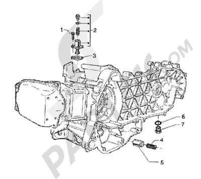 Piaggio BV 200 (U.S.A.) 1998-2005 Chain tightener-by-pass valve
