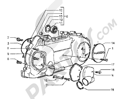 Piaggio BV 200 (U.S.A.) 1998-2005 Crankcase cooling