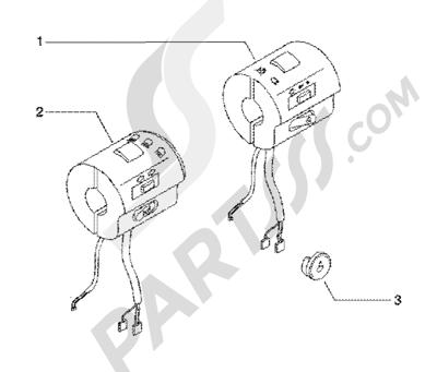 Piaggio BV 200 (U.S.A.) 1998-2005 Electric controls
