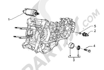 Piaggio BV 200 (U.S.A.) 1998-2005 Electric starter