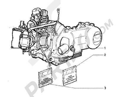 Piaggio BV 200 (U.S.A.) 1998-2005 Engine