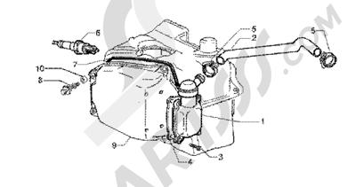 Piaggio BV 200 (U.S.A.) 1998-2005 Oil drain valve