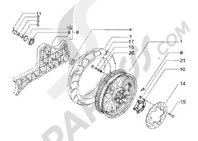Piaggio BV 200 (U.S.A.) 1998-2005 Rear wheel