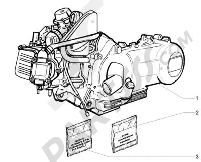 Piaggio BV 250 (U.S.A.) 1998-2005 Motor