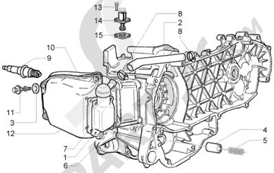 Piaggio BV 250 (U.S.A.) 1998-2005 Valvula by-pass-tensor de cadena-valvula desfogue aceite