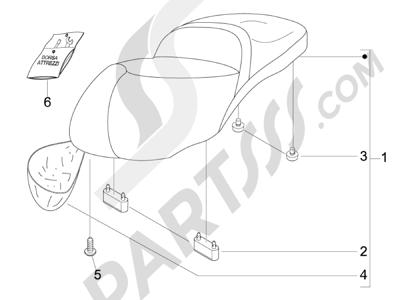 Piaggio BV 250 (USA) 2007-2008 Sillín asientos
