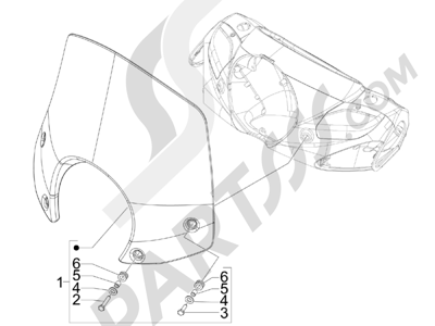 Piaggio BV 250 Tourer (USA) 2008 Parabrisas - Cristales