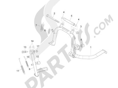 Piaggio BV 300 ie Tourer (USA) 2009-2011 Caballete s