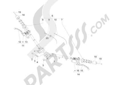 Piaggio BV 300 ie Tourer (USA) 2009-2011 Manillar - Bomba freno