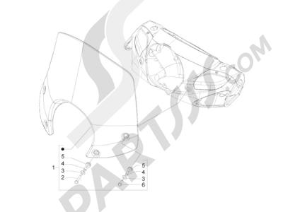 Piaggio BV 300 ie Tourer (USA) 2009-2011 Parabrisas - Cristales