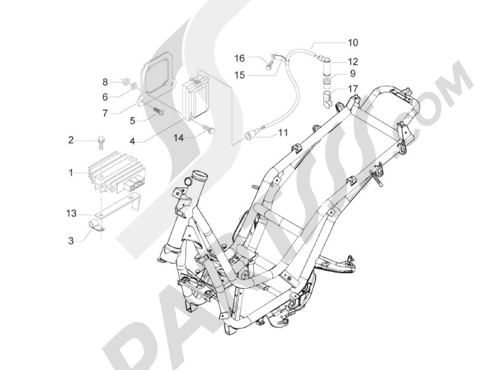 Piaggio BV 300 ie Tourer (USA) 2009-2011 Reguladores de tensión - Centralitas electrónicas - Bobina A.T.