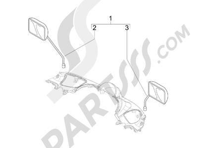 Piaggio BV 300 ie Tourer (USA) 2009-2011 Retrovisor es