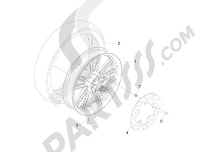Piaggio BV 300 ie Tourer (USA) 2009-2011 Rueda trasera
