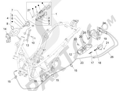 Piaggio BV 350 4T 4V ie E3 (USA/CA) 2012-2014 Cerraduras