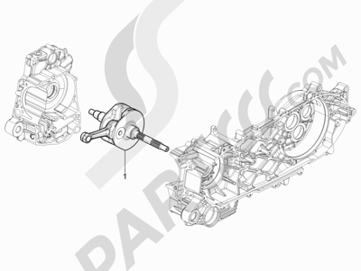 Piaggio BV 350 4T 4V ie E3 (USA/CA) 2012-2014 Cigüeñal