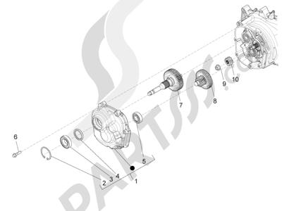 Piaggio BV 350 4T 4V ie E3 (USA/CA) 2012-2014 Grupo reductor