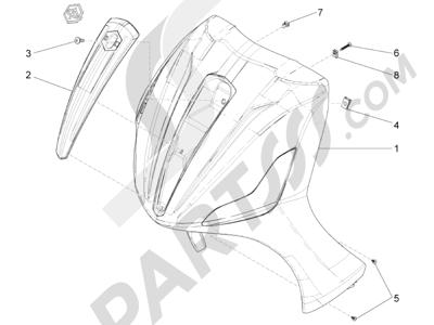 Piaggio BV 350 4T 4V ie E3 ABS (USA) 2015 Escudo delantero