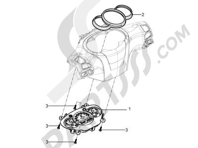 Piaggio BV 350 4T 4V ie E3 ABS (USA) 2015 Tablero de instrumentos - Cruscotto